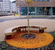 corten urban crate + bench