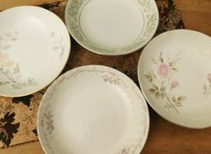Mismatched China Dessert Bowls by LittleDixieVintage on Etsy