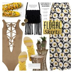 """""""Floral Skirt"""" by noviii ❤ liked on Polyvore featuring WearAll, Blowfish, Kerr®, Panacea and Floralskirts"""