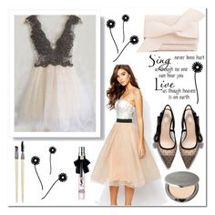 """""""Dream dressy 108"""" by aidaaa1992 ❤ liked on Polyvore featuring Rare London, WALL and Cover FX"""