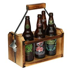 beer carrier for 22oz bottles shown with craft beer bottles