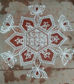 Kolam Rangoli, Simple Rangoli, Floor Art, Rangoli Designs, Mandala, Dots, Collections, Indian, My Favorite Things