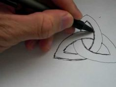 "How To Draw The Ancient Celtic Symbol ""TRIQUETRA"""