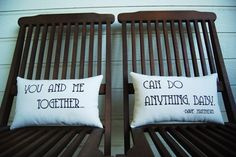 Dave Matthews You and Me pillows by ThreeYellowFinches...love love love this song...for Amanda for sure!