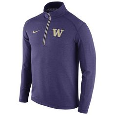 Nike Washington Huskies Purple Football Coaches Sideline Half-Zip Tri-Blend Performance Knit Top-- medium , $79.99