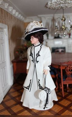 Lady Crawley 1/12 Scale Dolls House Doll from www.tanyaslittlecurtains.co.uk