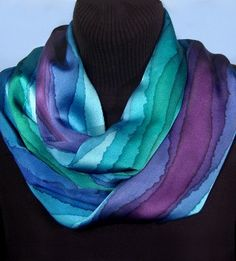 More luscious colors and gradiations. Striped Infinity Loop Scarves