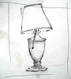 June 9, A Thing a Day, Lamp in my room with a rather jaunty shade that appeals to me a lot.