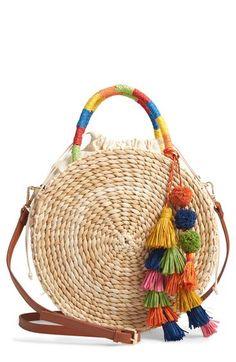 Nordstrom Joni Circular Raffia Tote ]Source by ShopStyle Tote Handbags, Purses And Handbags, Round Straw Bag, Unique Purses, Diy Purse, Unusual Jewelry, Basket Bag, Summer Bags, Leather Purses