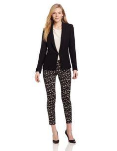 DKNYC Women's Long Sleeve Shawl Collar Blazer With Lightweight Satin Back, Black, 10 DKNYC,http://www.amazon.com/dp/B00B0A4NSY/ref=cm_sw_r_pi_dp_nyDBrb2315F442A3