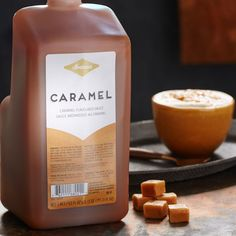 A pump of rich, buttery caramel sauce from this bottle makes any coffee beverage into a decadent treat.