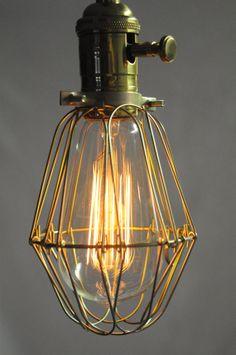 Light Cage de EdisonLampe à suspension  Pendaison par VintageEdison, $43.00