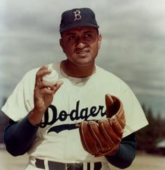 """Don Newcombe """"Newk"""" of the Brooklyn and later L.A. Dodgers. One of the """"Boys of Summer"""", he was the first black pitcher in MLB joining team mates Jackie Robinson and catcher Roy Campanella on the Brooklyn Dodgers in May of 1949. I had the privilege to meet Don Newcombe in 1988 when he came to speak to us at the Navy's Alcohol and Drug rehab center."""