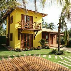 tiny yellow house