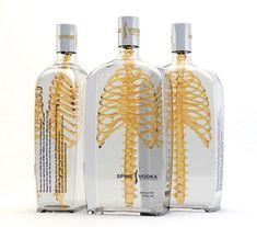 diseños de packaging Spine Vodka