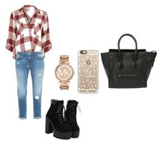 """""""Untitled #140"""" by andreeandree ❤ liked on Polyvore featuring River Island, Frame Denim, CÉLINE, Casetify and Michael Kors"""