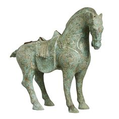b25d1cabd302 Small Bronze Tang Horse with Silver inlay  ChineseAccessories   BronzeAccessories  Shimu