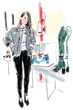 The illustrator Damien Florébert Cuypers draws the people — and looks — at the fall/winter 2017 collections in Paris.
