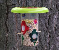 bird feeder upcycling...great for getting the kids outside and thinking about the natural world