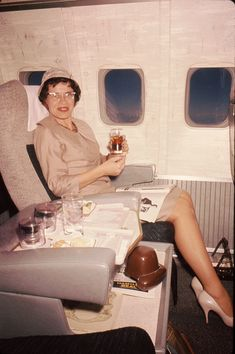 The glamour days of air travel, sadly gone forever.