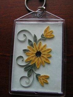 Quilled Sunflower--Etsy.