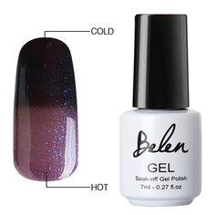 Belen Chameleon UV Gel Varnish Mood Thermal Temperture Color Change Nail Gel Polish UV/LED Soak off 1pcs Verins Semi Permanent