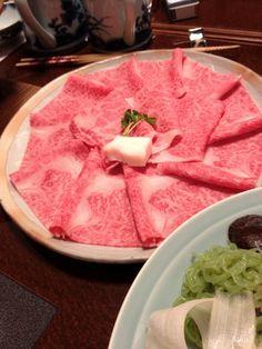 "Yonezawa beef Sukiyaki(before cookinng)""-""."
