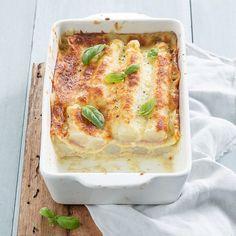 Lasagne met witte asperges en pestosaus - Leuke recepten Moussaka, Cooking Recipes, Healthy Recipes, Asparagus Recipe, Vegetable Salad, Four, High Tea, Italian Recipes, Love Food