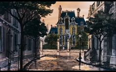 Scenery background from The Aristocats set in Paris