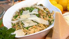Emeril's Fettucine with Ramps, Spring Peas and Pancetta   Recipe - ABC News