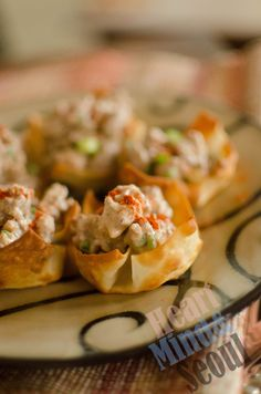 Turkey ranch taco wontons