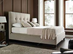 Kaydian Walkworth Ottoman Storage Bed - Oatmeal Fabric