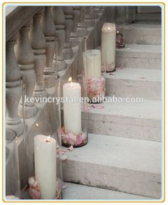 Decoration for the church. – Seeking Simplicity Decoration for the church. Candles and rose petals for church isle! Church Wedding Decorations, Wedding Centerpieces, Wedding Table, Wedding Reception, Wedding Church, Ceremony Decorations, Church Ceremony, Wedding Stairs, Lavender Centerpieces