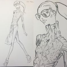 """POLO Ralph Lauren Design sketch Holiday 2014 #polo #polowomen #ralphlauren #renaldobarnette #lookoftheday #sketchoftheday #fashion #fashiondesign…"""
