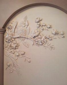 Sculpture Painting, Abstract Sculpture, Wall Sculptures, Decorative Plaster, Plaster Art, Classic Wall Paint, Art Decor, Decoration, Wood Carving Patterns