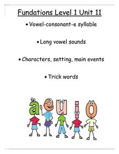 I hope you find this useful if you teach the Fundations phonics curriculum.These activities go along with level 1 unit 11. Use them for morning work, homework, seat work, and guided reading practice. Thank you!