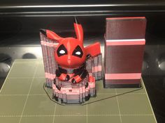 Deadpool Pikachu! Printed by Maker 3D Printing #toysandgames #mmu2 #prusai3