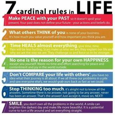 Click to know 7 cardinal rules in life now.