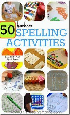 50 hands on spelling games for kids