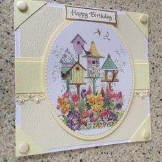 Art Pad, Flower Images, Happy Birthday Cards, Pretty Flowers, Bird Houses, White Envelopes, Decorative Plates, Lily, Things To Come