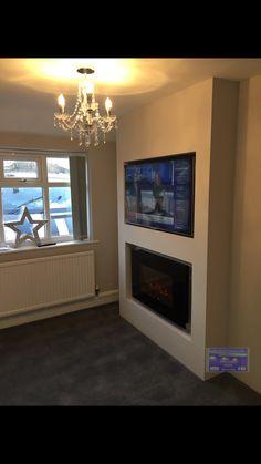 Fake chimney breast tv wall