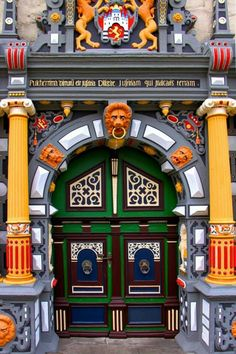 City Hall Door, Münden, Lower Saxony, Germany