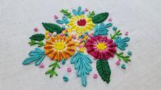 DIY Beautiful Spider web stitch | hand embroidery design | unique embroi...