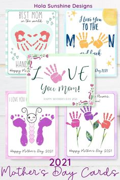 Mothers Day Crafts Preschool, Easy Mother's Day Crafts, Toddler Arts And Crafts, Baby Crafts, Preschool Crafts, Easy Mothers Day Crafts For Toddlers, Baby Handprint Crafts, Crafts For Babies, Diy Mothers Day Gifts