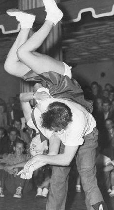 Jitterbug dancing. S)