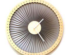 Pajar raw reloj de pared orgánica de madera por ardeola en Etsy