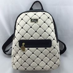 "🎈1HOUR SALE🎈Betsey Quilted ❤️ Backpack 🌹HP🌹 Black and cream quilted backpack. Measures 14.5"" across and 17.5"" up&down, including depth with a fully adjustable strap. NWTChosen by Carrie @lovelylilac 4/22 Bags"