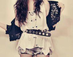 Grunge Outfits – Page 5329437782 – Lady Dress Designs Rock Tumblr, Cute Summer Outfits, Cute Outfits, Luanna, Rocker Style, Rocker Chick, Girl Fashion, Womens Fashion, Rocker Fashion