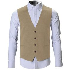 FLATSEVEN Mens Designer Stylish Casual Vest WaistCoat (2.985 RUB) ❤ liked on Polyvore featuring men's fashion, men's clothing, men's outerwear, men's vests, mens vest outerwear, mens waistcoats and mens vest