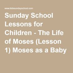 The life and teachings of Moses and Jesus